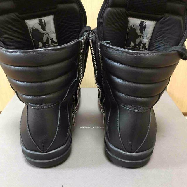 正規美品 Rick Owens リックオウエンス ジオバスケット ジオバス オールブラック 40_画像5