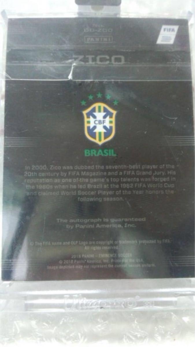 2018 Panini Eminence Soccer Zico Brazil AUTO 5/5_画像2