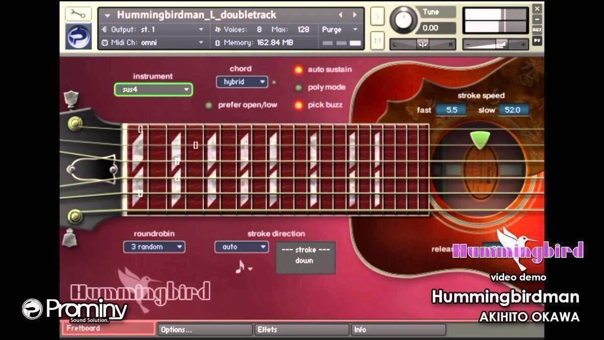 Prominy Hummingbird Acoustic Guitar Kontakt音源+特典Win&Mac