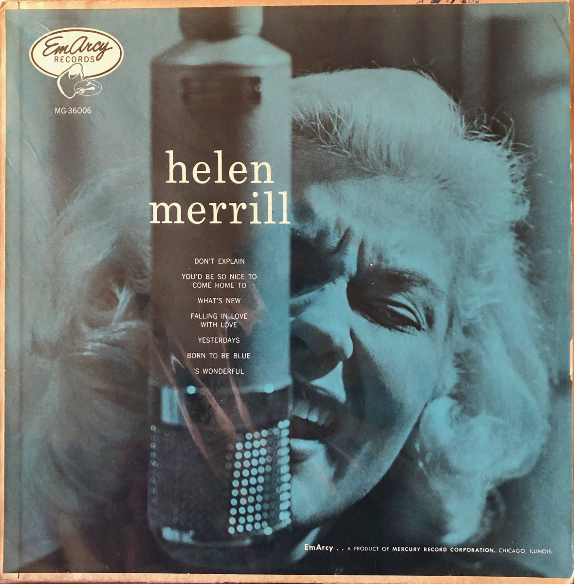 {終活}Helen Merrill / EmArcy MG36006 / 完オリ、青バック、銀冠、大ドラマー、盤美盤
