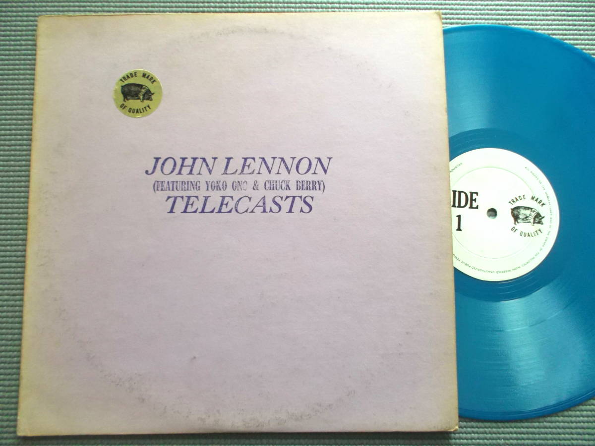 JOHN LENNON TELECASTS TMOQブルーカラー盤インサート付属 ブートLP