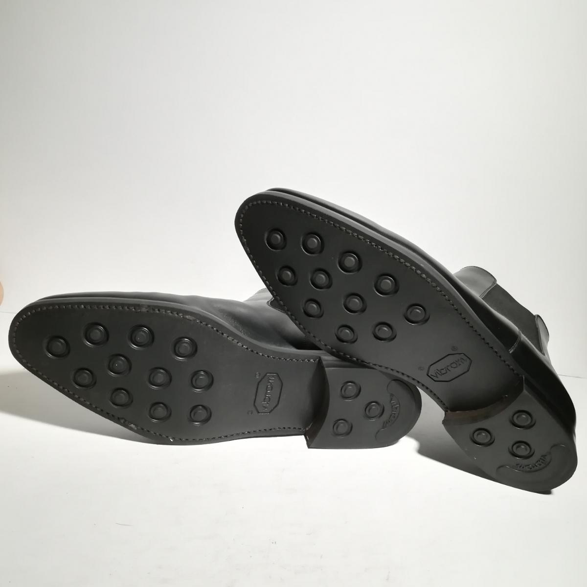 560 新品同様 ★ヤンコ YANKO★ サイドゴアブーツ 9 1/2 28.0cm 黒 ドレスシューズ 革靴_画像6