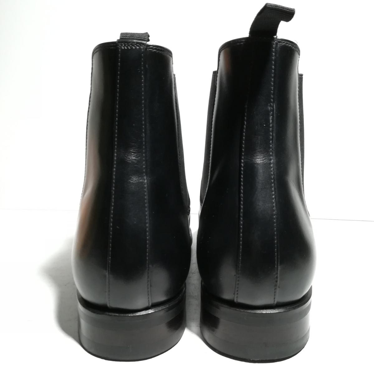 560 新品同様 ★ヤンコ YANKO★ サイドゴアブーツ 9 1/2 28.0cm 黒 ドレスシューズ 革靴_画像3