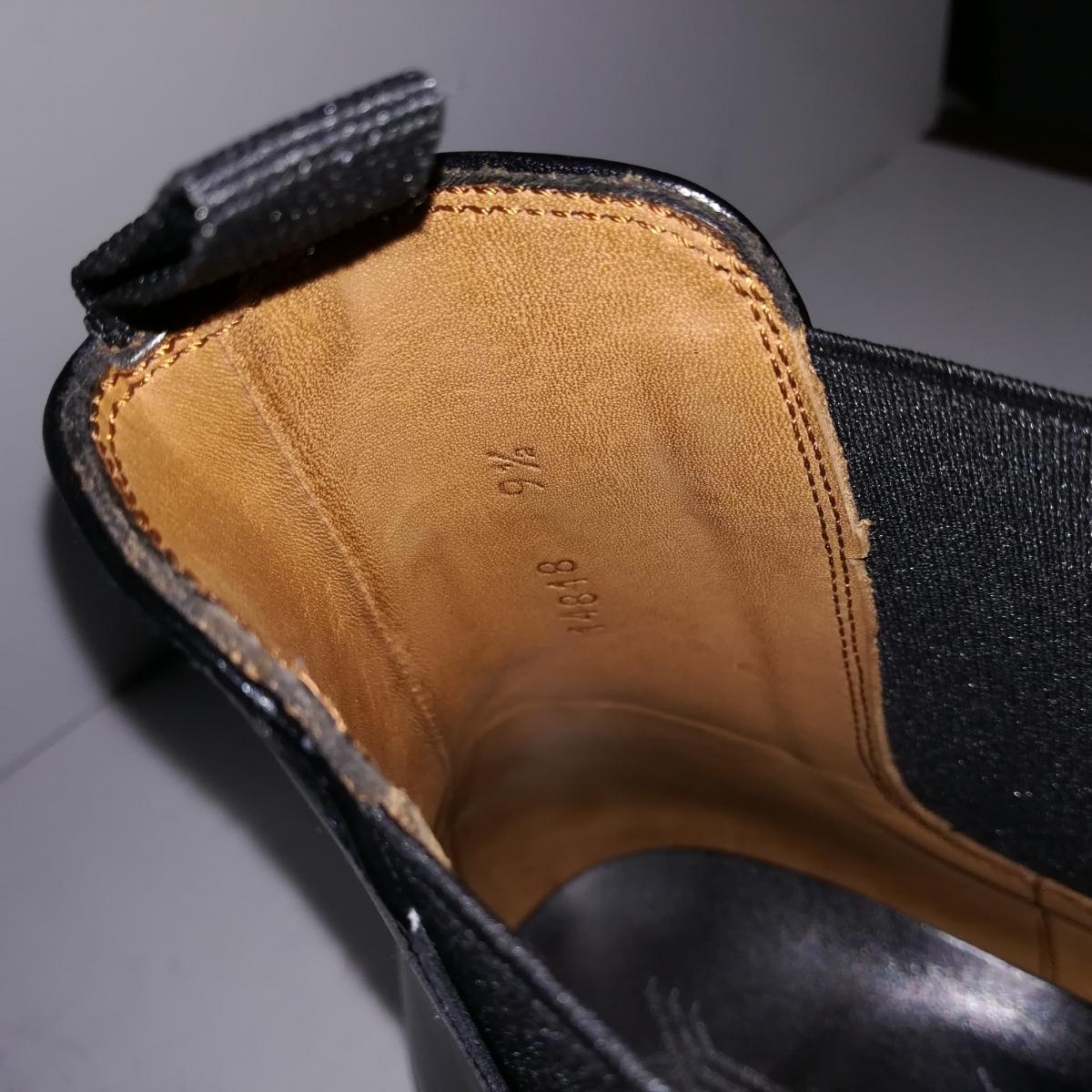 560 新品同様 ★ヤンコ YANKO★ サイドゴアブーツ 9 1/2 28.0cm 黒 ドレスシューズ 革靴_画像8