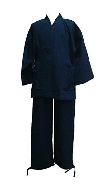 ◯【江戸てん】 作務衣 紺 Lサイズ 1円スタート