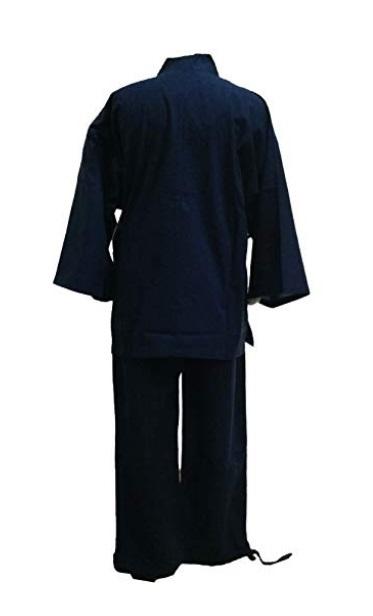 ◯【江戸てん】 作務衣 紺 Lサイズ 1円スタート_画像2