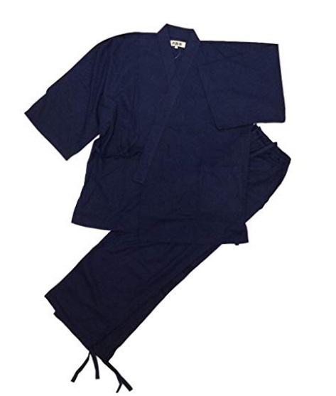 ◯【江戸てん】 作務衣 紺 Lサイズ 1円スタート_画像6