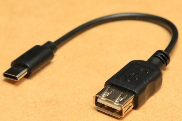 [USBAコネクタ→Type-C変換ケーブルVM-17]黒送料\0 パソコンのマウスやカードリーダーがタブレットで使える タイプC変換ケーブル 新品即決_画像2
