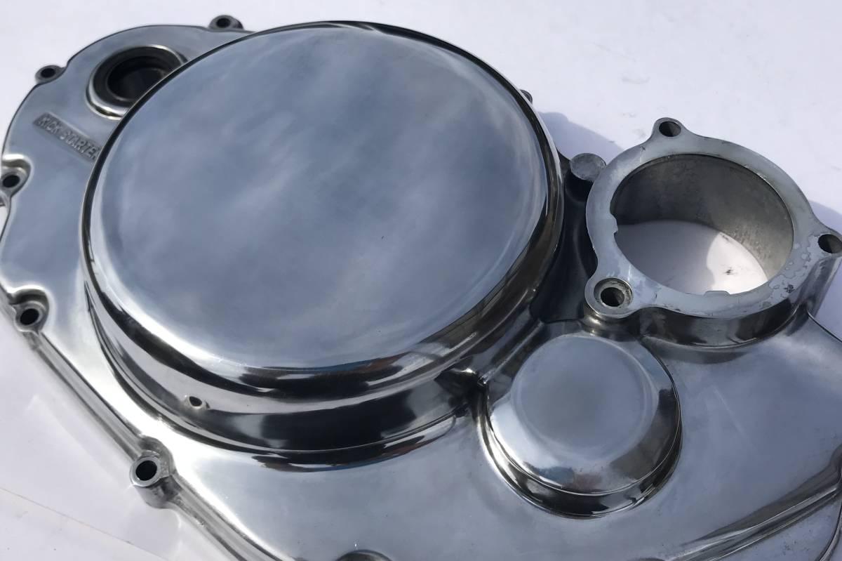SR400 SR500 クラッチカバー 鏡面磨き YAMAHA バフ研磨 検 / 2J201_画像4