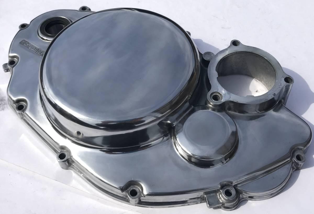 SR400 SR500 クラッチカバー 鏡面磨き YAMAHA バフ研磨 検 / 2J201