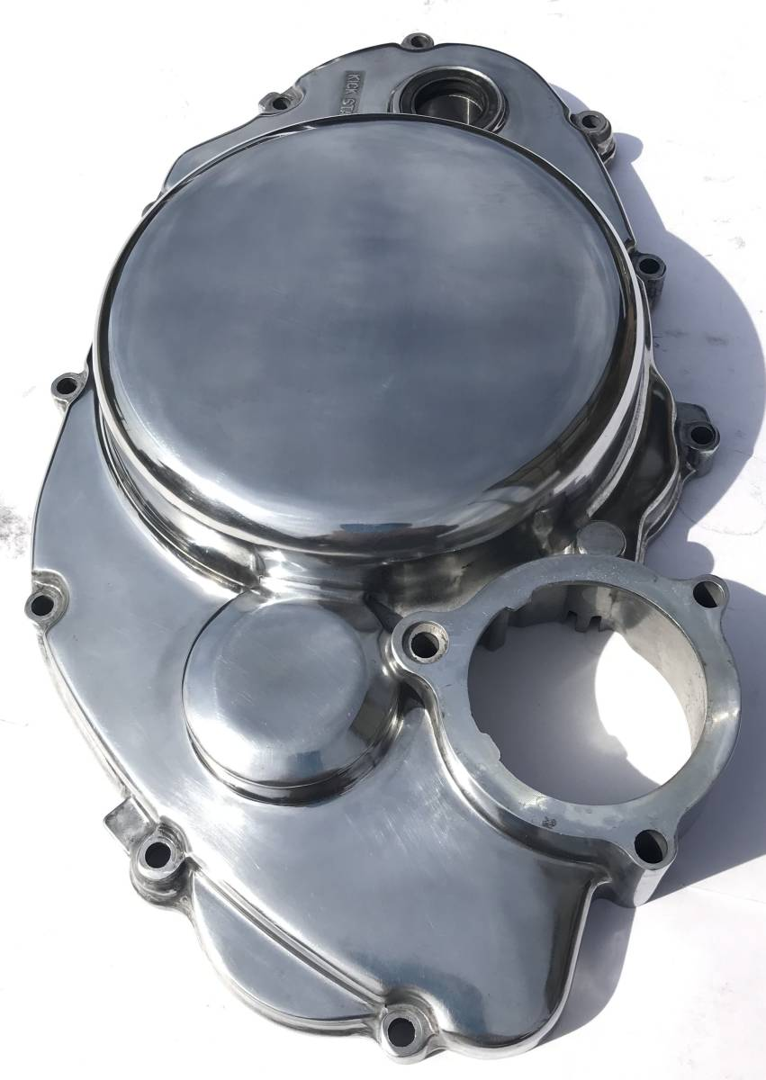 SR400 SR500 クラッチカバー 鏡面磨き YAMAHA バフ研磨 検 / 2J201_画像5