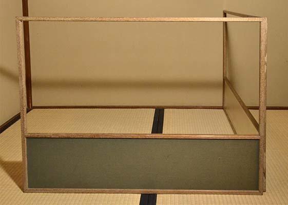 銀箔地 腰風炉先屏風 木地縁 美品 江戸間用 茶道具  a1211_画像3