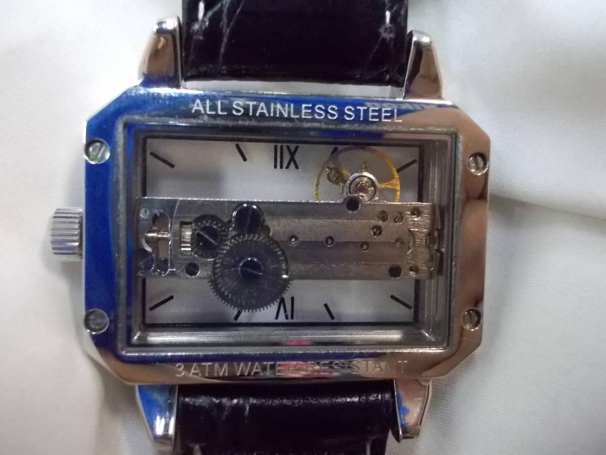 ◎a063 アルカフトゥーラ ARCA FUTURA 腕時計 機械式 手巻き スケルトン 美品 管03.11 _画像2
