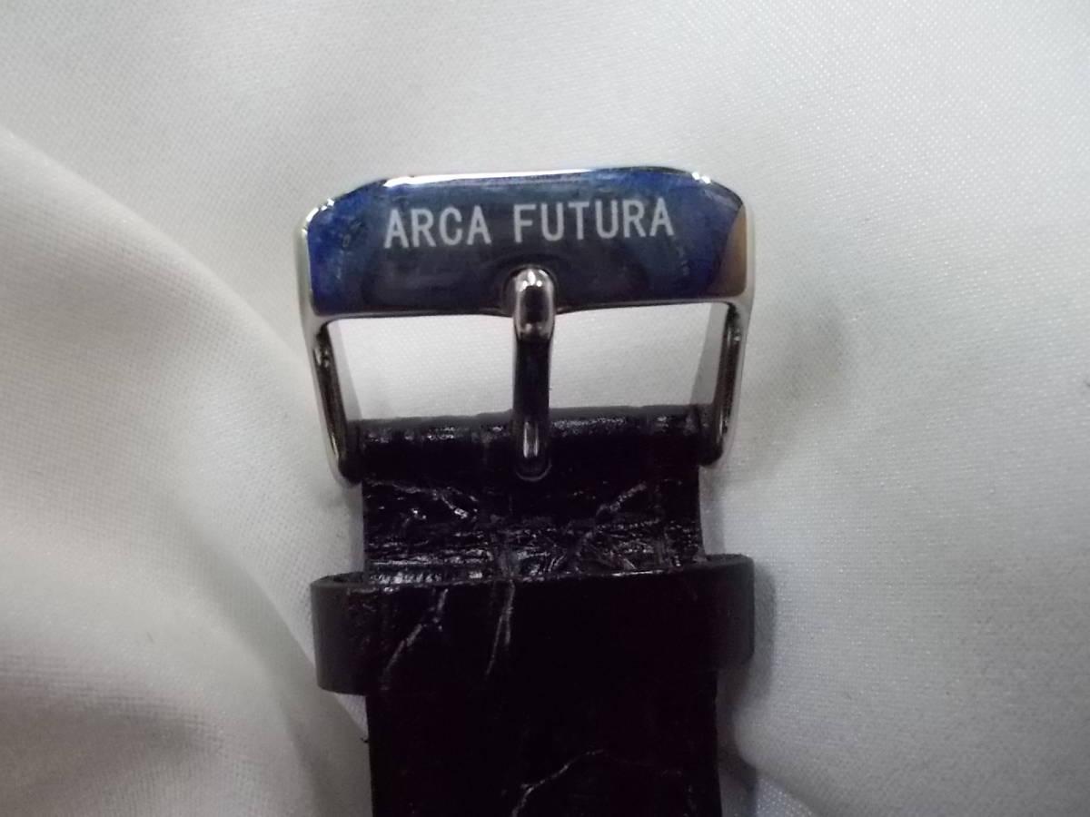 ◎a063 アルカフトゥーラ ARCA FUTURA 腕時計 機械式 手巻き スケルトン 美品 管03.11 _画像5
