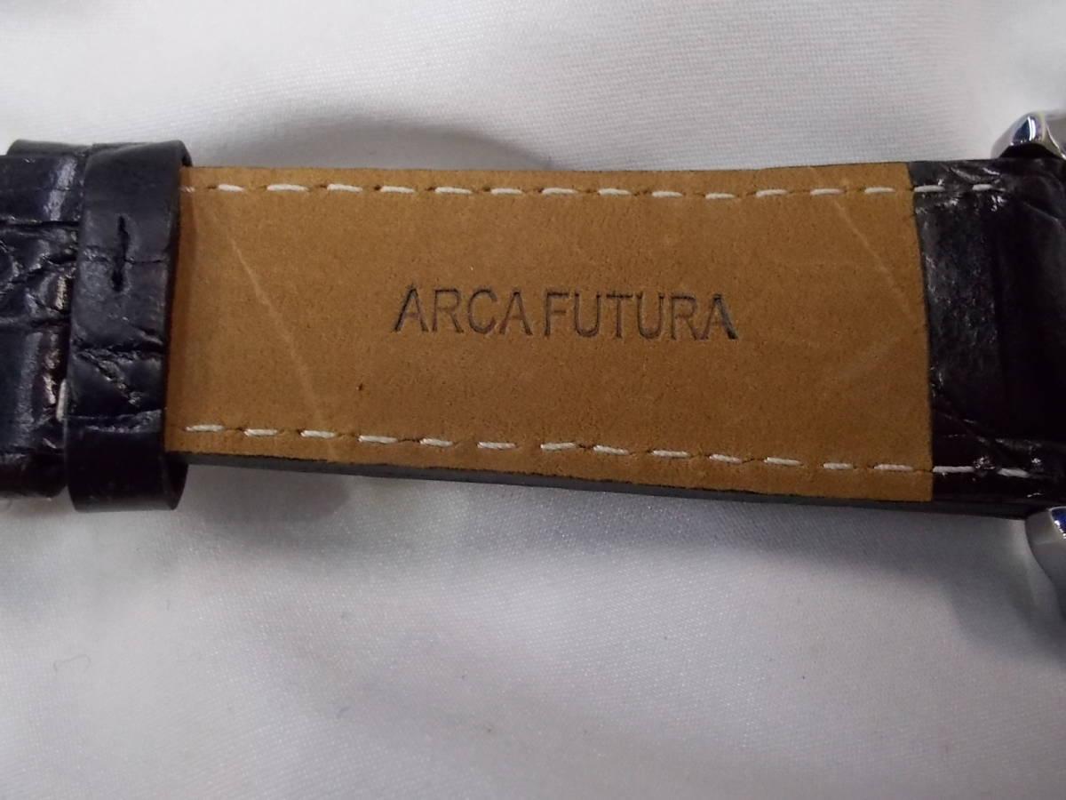 ◎a063 アルカフトゥーラ ARCA FUTURA 腕時計 機械式 手巻き スケルトン 美品 管03.11 _画像6