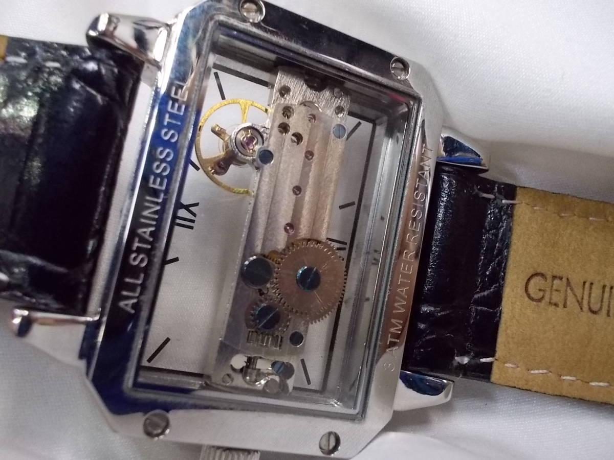 ◎a063 アルカフトゥーラ ARCA FUTURA 腕時計 機械式 手巻き スケルトン 美品 管03.11 _画像8