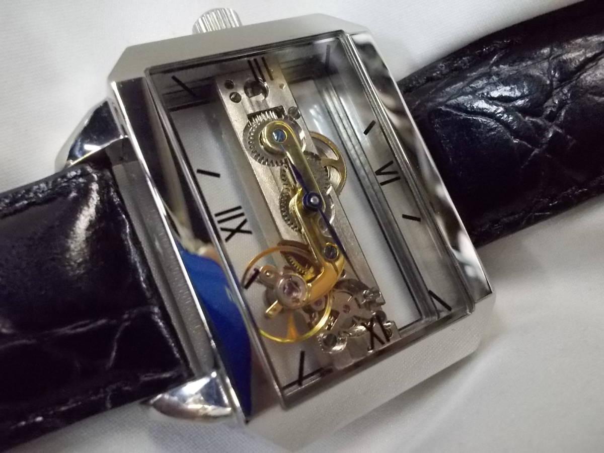 ◎a063 アルカフトゥーラ ARCA FUTURA 腕時計 機械式 手巻き スケルトン 美品 管03.11 _画像9