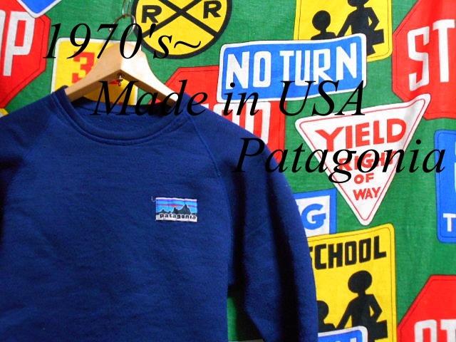 ☆希少な70年代後半の1着☆Made in USA製アメリカ製Patagoniaパタゴニアビンテージレトロパイルフリースシャツ70s70年代ネイビー紺デカタグ_♪1970s~ Patagonia♪
