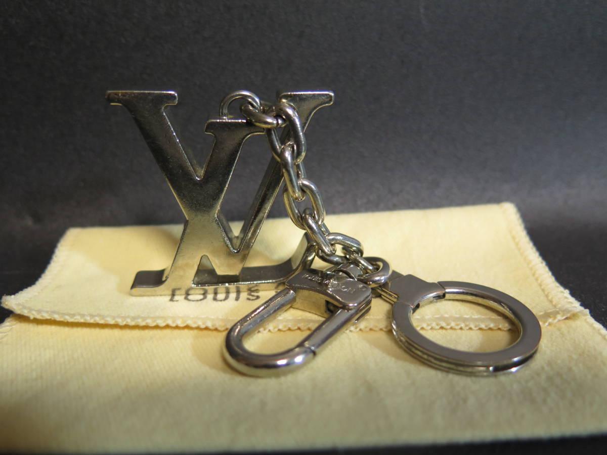 中古品 LOUIS VUITTON ルイ ヴィトン ポルト クレ イニシアル LV / キーリング/ 携帯 バッグ チャーム/キーホルダー 箱、保存袋付き_画像2