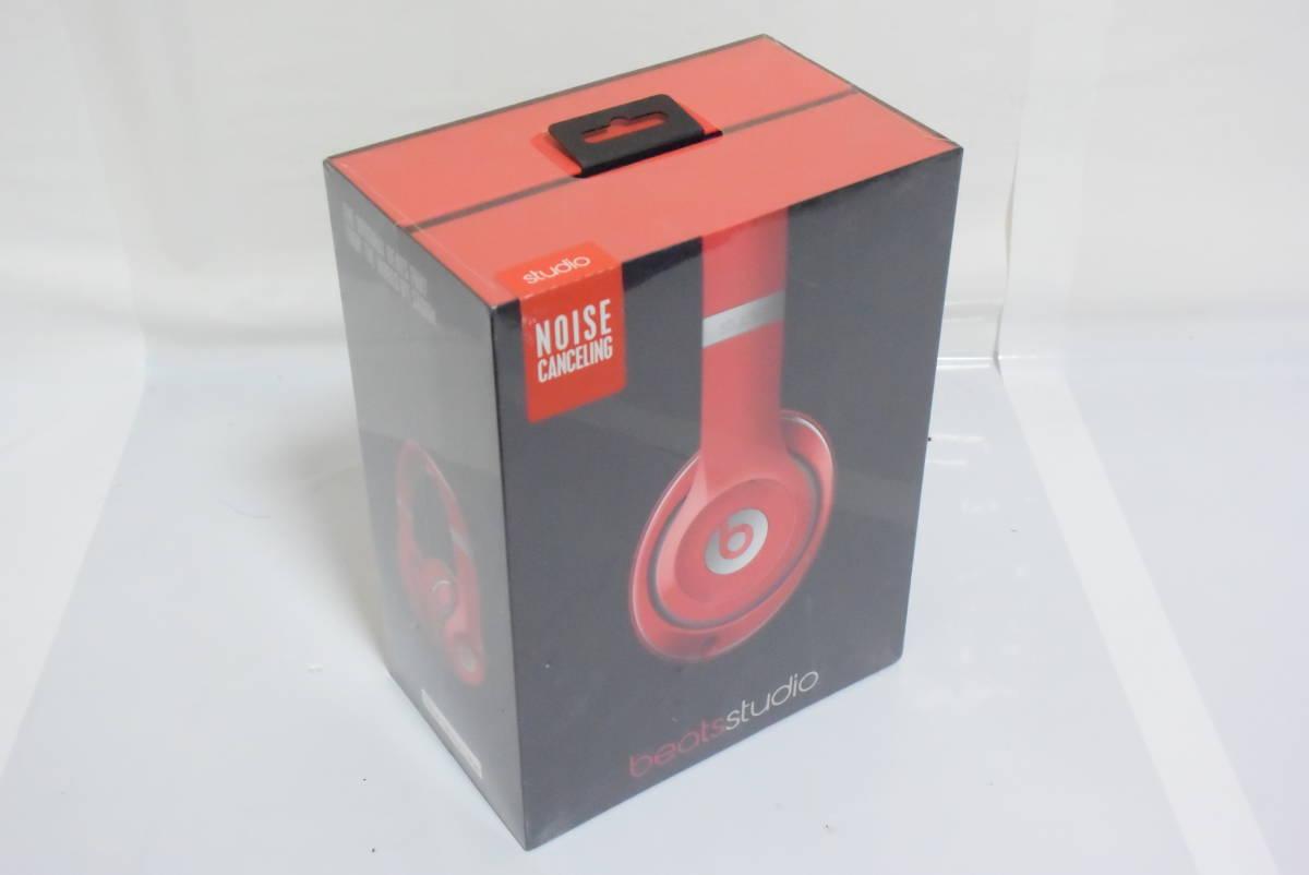 【新品】Beats by dr.dre Studio オーバーイヤーヘッドフォン Red MH7V2PA/A【国内正規品】