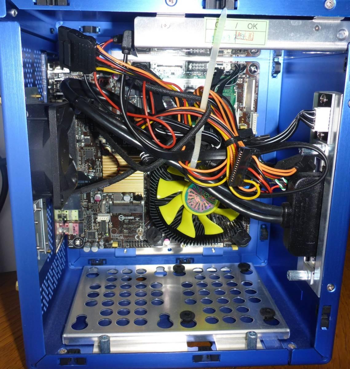 中古PC M/B ASUS H81T CPU Pentium G3258 LIAN LI アルミケース付 ACアダプター 130W 動作確認 Thin mini ITX Antec Spot Cool_画像2