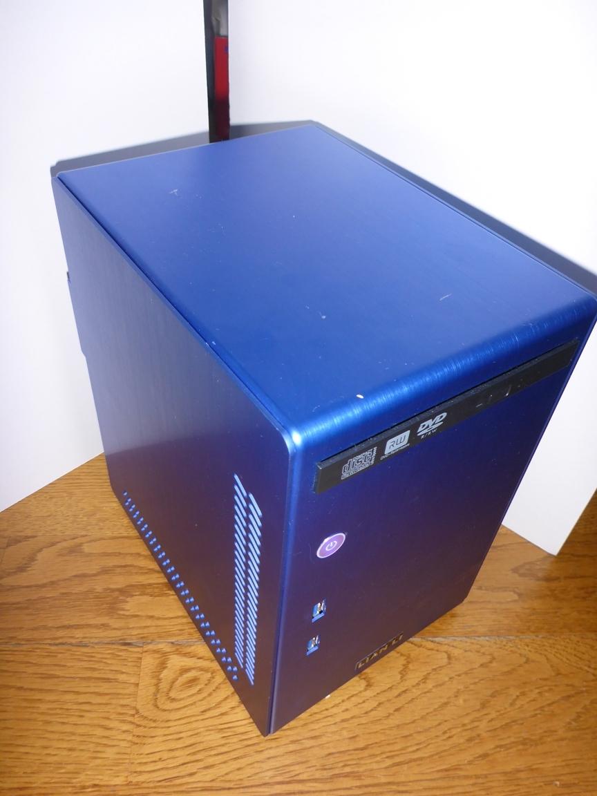 中古PC M/B ASUS H81T CPU Pentium G3258 LIAN LI アルミケース付 ACアダプター 130W 動作確認 Thin mini ITX Antec Spot Cool