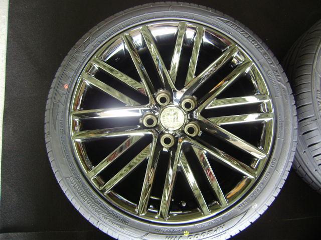 210 クラウンアスリート 18インチ 希少ブラックスパッタリング 225/45R18 新品タイヤ付き 4本セット ブラックスタイル_画像5