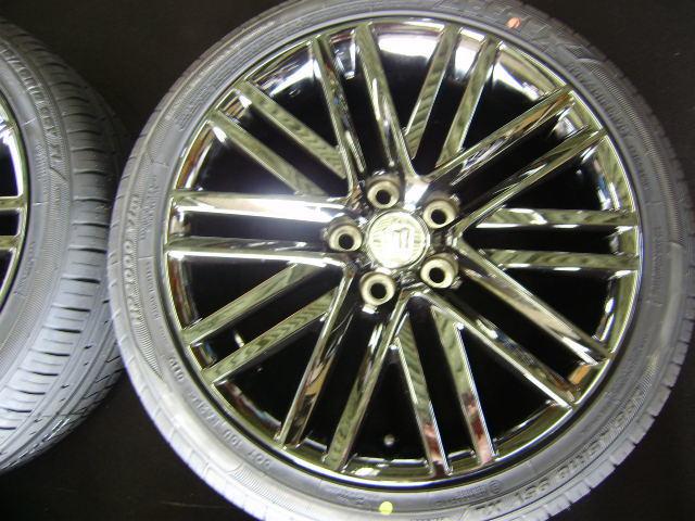 210 クラウンアスリート 18インチ 希少ブラックスパッタリング 225/45R18 新品タイヤ付き 4本セット ブラックスタイル_画像6