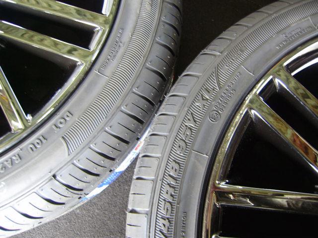 210 クラウンアスリート 18インチ 希少ブラックスパッタリング 225/45R18 新品タイヤ付き 4本セット ブラックスタイル_画像7