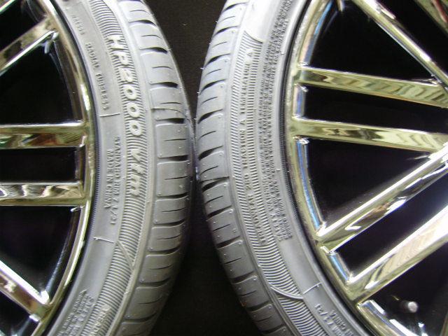 210 クラウンアスリート 18インチ 希少ブラックスパッタリング 225/45R18 新品タイヤ付き 4本セット ブラックスタイル_画像8