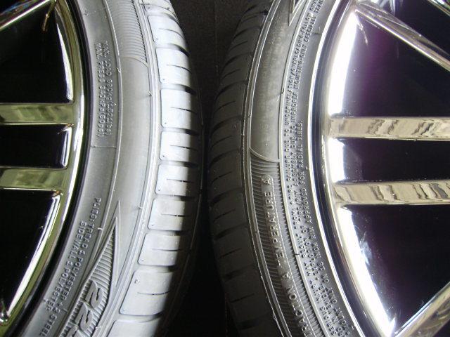 210 クラウンアスリート 18インチ 希少ブラックスパッタリング 225/45R18 新品タイヤ付き 4本セット ブラックスタイル_画像9