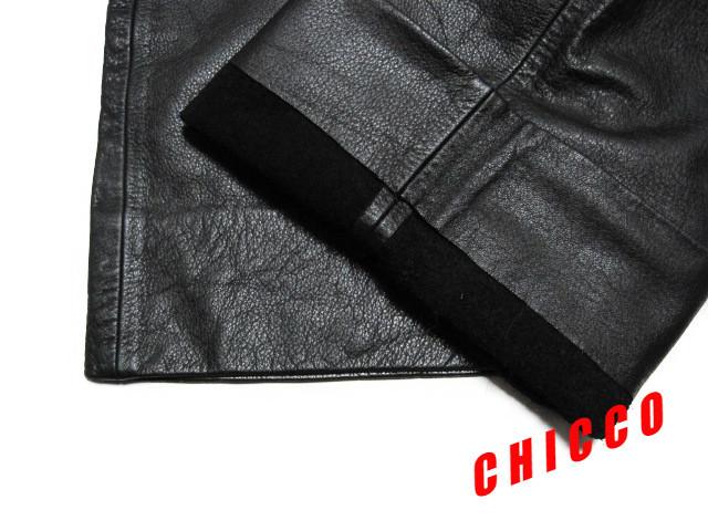 即決★美品★B&T CLUB メンズ W110cm 黒★大きいサイズ 本革 牛革 レザー パンツ ブラック ライダース ライディング パンツ パンク ロック_画像8