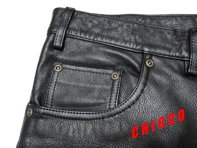 即決★美品★B&T CLUB メンズ W110cm 黒★大きいサイズ 本革 牛革 レザー パンツ ブラック ライダース ライディング パンツ パンク ロック_画像7