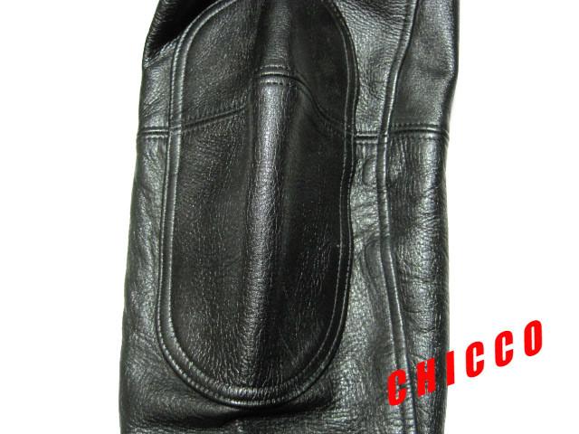 即決★N.B. メンズ 72cm~ 黒★本革 レザーパンツ ライダースパンツ ライディングパンツ ブラック 腰・膝パッド入 ノーブランド バイク S M_画像8