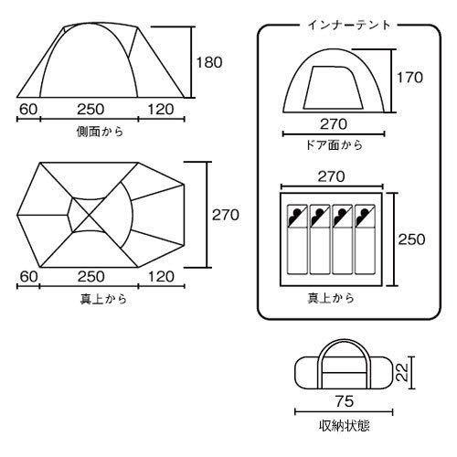 新品未開封 コールマン テント タフドーム 2725 スタートパッケージ 3~4人用 Model 2000031570_画像5