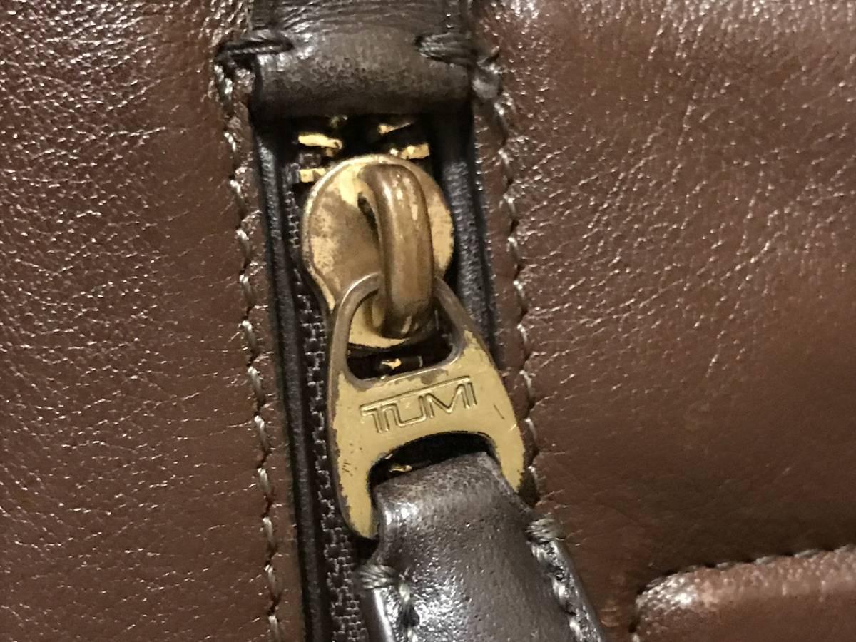 TUMI トゥミ メンズ ビジネスバック  ブランチ・スリム・ラップトップ・ブリーフ 68516B ブラウン  茶色  グレインレザー  本革_画像9