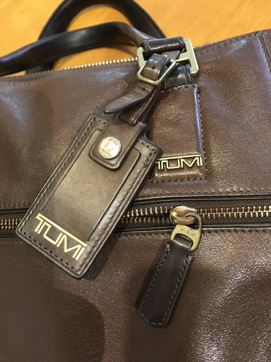 TUMI トゥミ メンズ ビジネスバック  ブランチ・スリム・ラップトップ・ブリーフ 68516B ブラウン  茶色  グレインレザー  本革_画像4