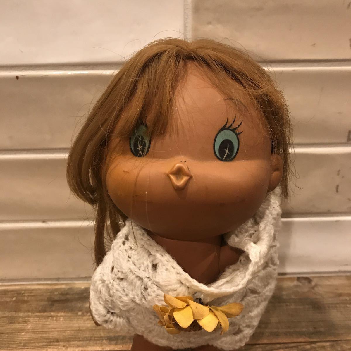 5245◎同梱不可 昭和レトロ ソフビ人形 28㎝ セキグチ? ホビー カルチャー コレクション 女の子 レア ヴィンテージ アンティーク