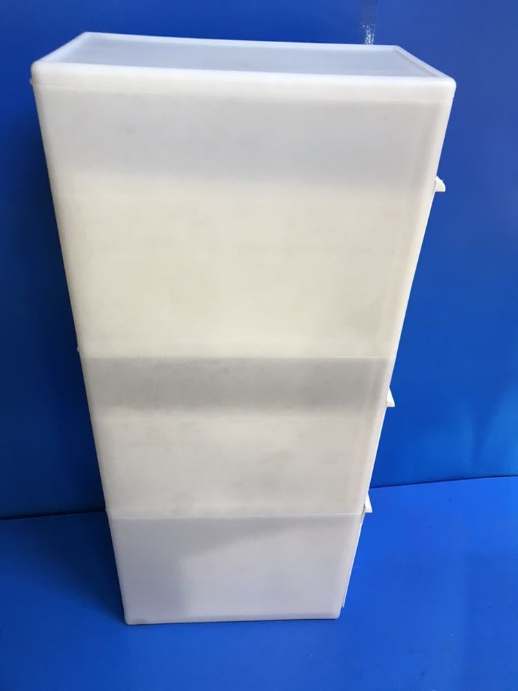 WM0967 ゴミ箱 分別スイングステーション 3段 ホワイト 105*25*45cm 現状品出品 1201903141_画像2