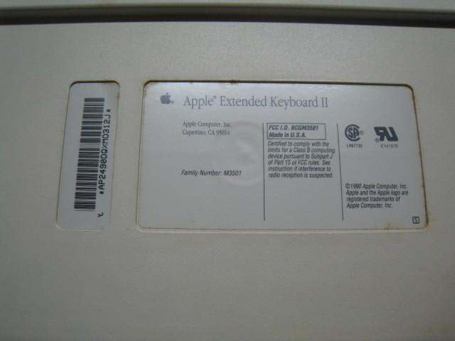 Apple Extended KeyboardⅡM3501_画像4