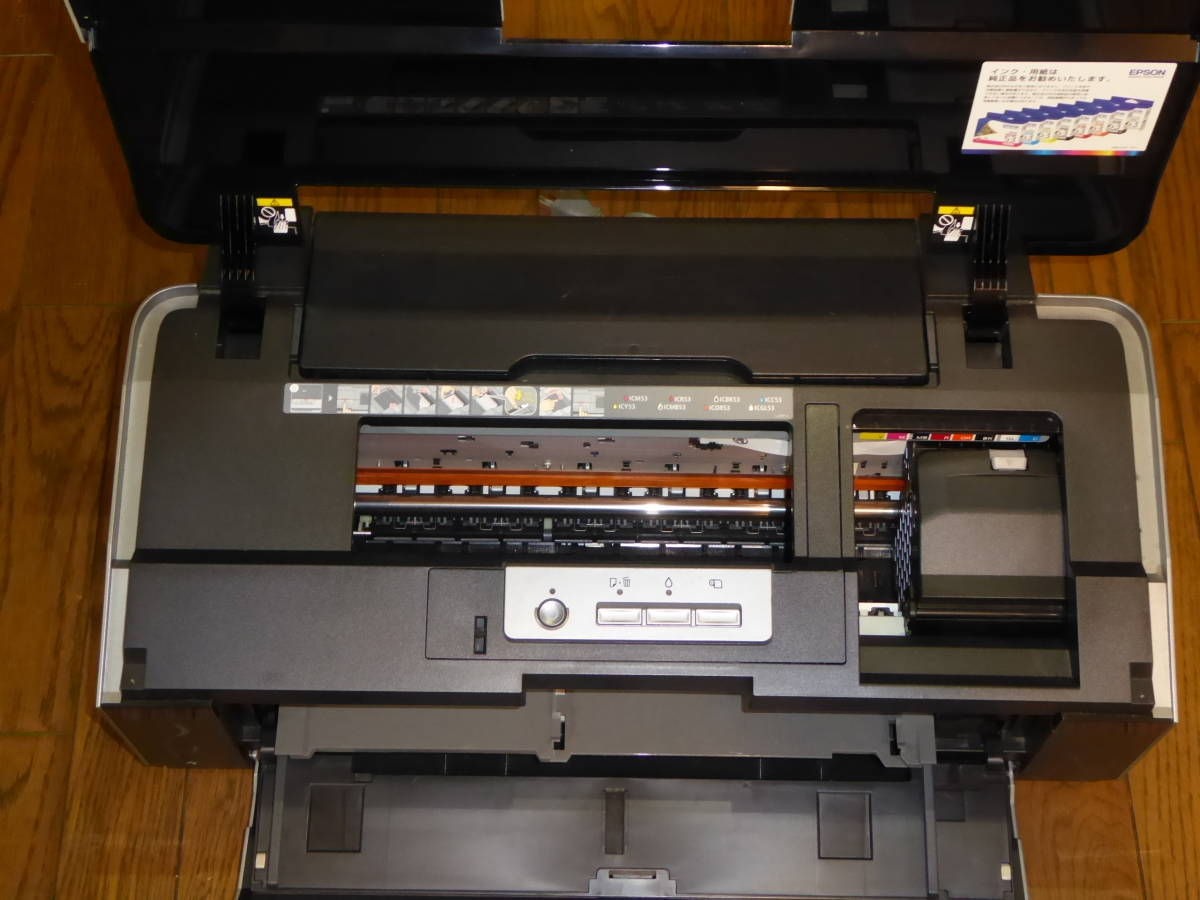 EPSON Colorio インクジェットプリンター PX-G5300 A3ノビ対応 8色高光沢顔料インク 作動品_画像4