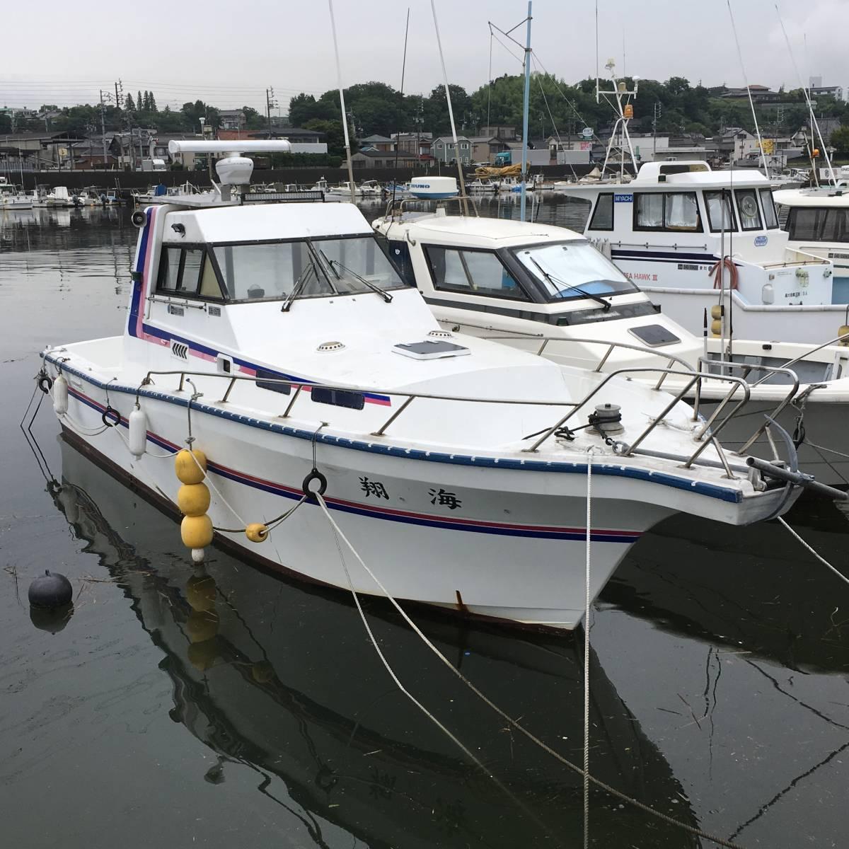 ☆彡30FT シャフト船 いすゞターボ230馬力2基 トイレ・魚探新品 フィッシングボート