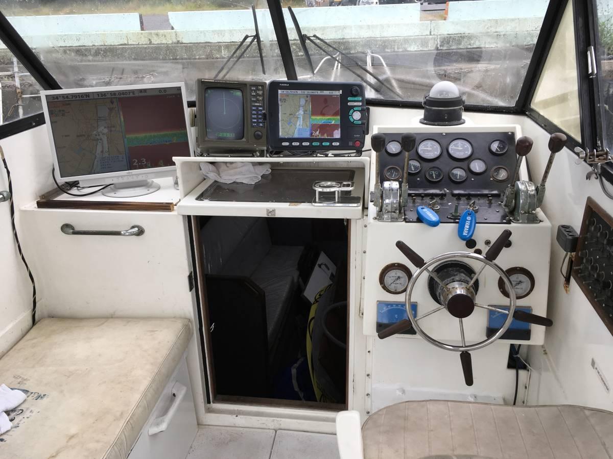 ☆彡30FT シャフト船 いすゞターボ230馬力2基 トイレ・魚探新品 フィッシングボート_画像5