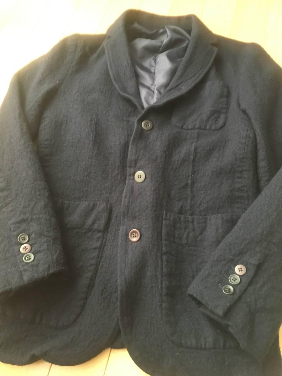 希少アンダーカバー13AWマルチボタン襟切り替え縮絨ウールジャケットコート袖レザーダウンライダースアーミーブルゾンゴアテックスscab but_画像6