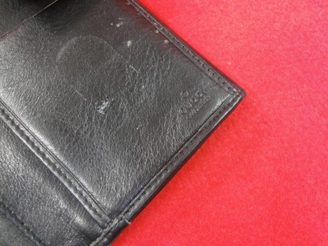 【グッチ】本物 GUCCI 長財布 小銭入れ有り 本革 レザー メンズ レディース イタリア製 箱有 送料510円_画像7