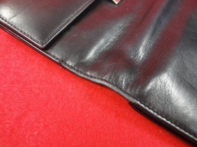 【グッチ】本物 GUCCI 長財布 小銭入れ有り 本革 レザー メンズ レディース イタリア製 箱有 送料510円_画像10