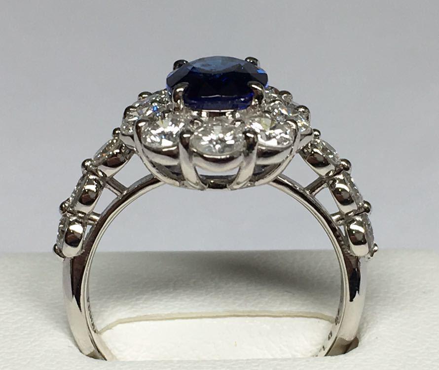 ◆綺麗 天然サファイア 1.87ct ダイヤモンド 高級リング 1.67ct/Pt900 CGL ソーティング付◆_画像4