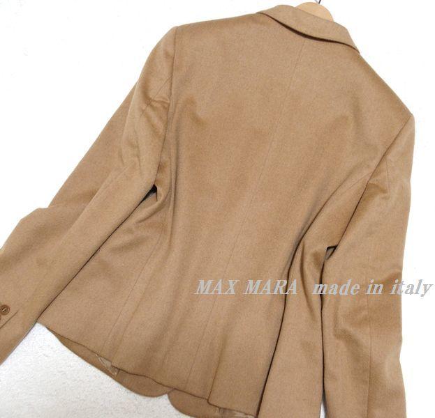 ♪至福の素材纏う 美品 イタリア製 MAX MARA マックスマーラ 最高級キャメルへアー100% 2Bテーラードジャケット 最高峰白タグ 42♪_画像2