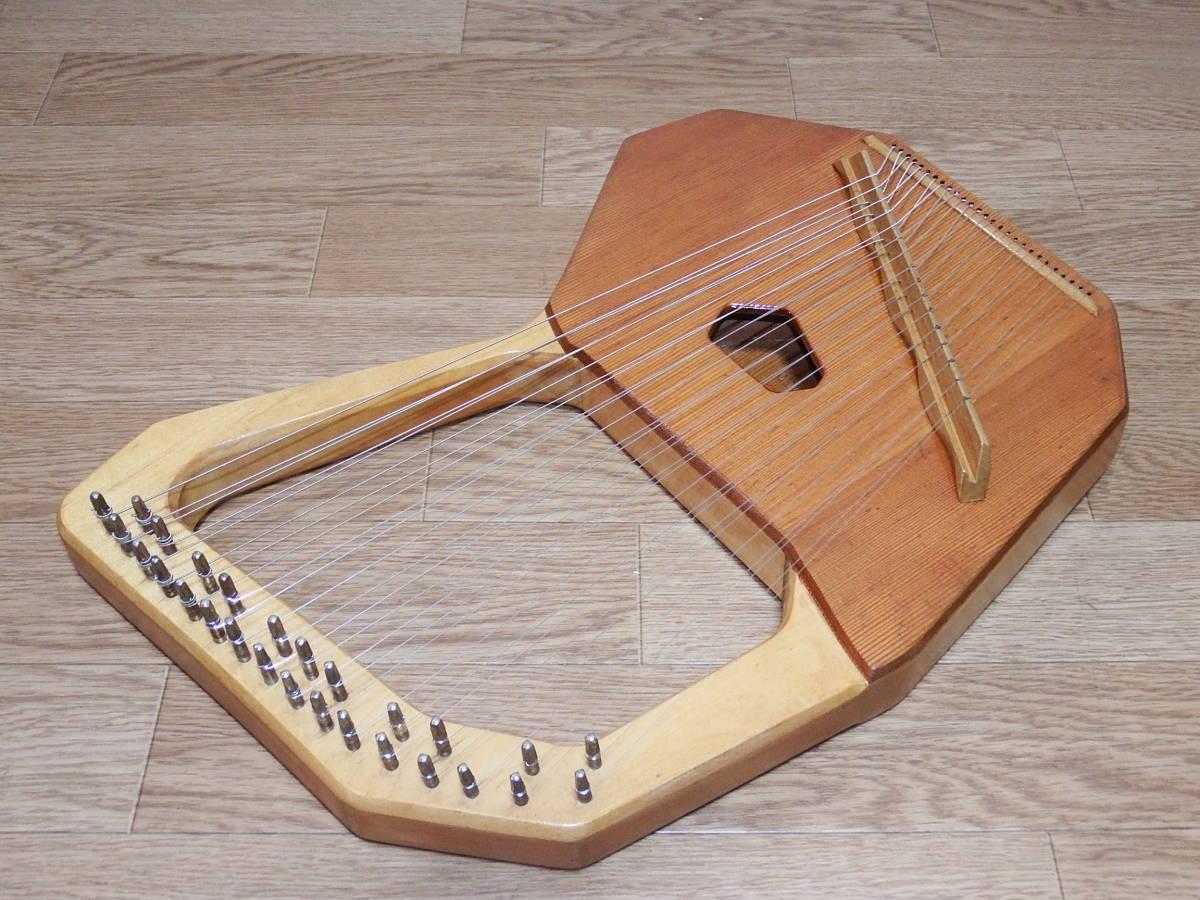 CHOROI コロイ小型ソプラノライアーE130 27弦 たて琴 竪琴 ミニハープ 最後の1台_画像5