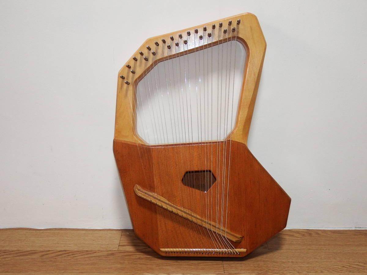 CHOROI コロイ小型ソプラノライアーE130 27弦 たて琴 竪琴 ミニハープ 最後の1台_画像3